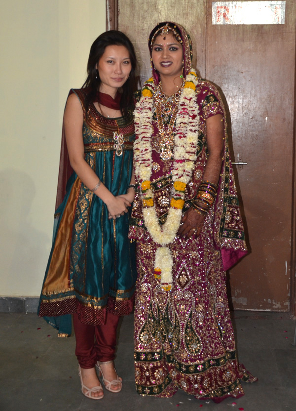 Eu e a noiva!! Que honra!!