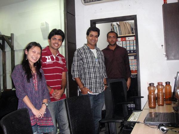 É nóis! Eu, Anirudh, Chirayu e Vivek!
