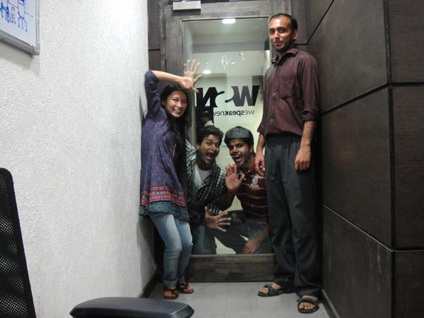 É nóis! Eu, Chirayu, Anirudh e Vivek!